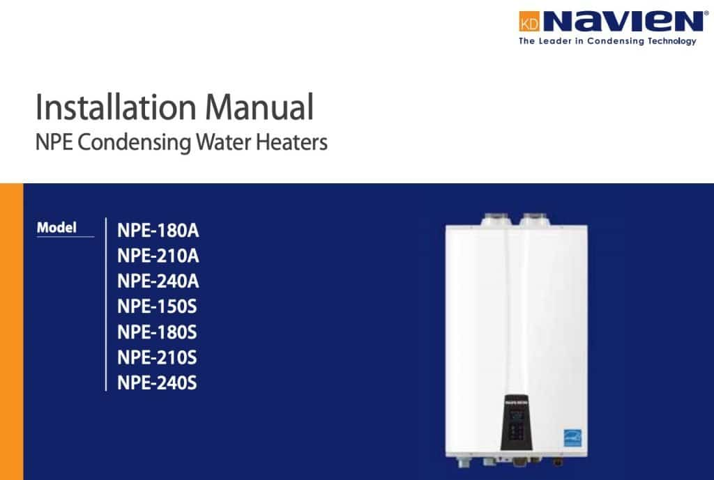 Navien Installation Manuals - Hoffmann Brothers