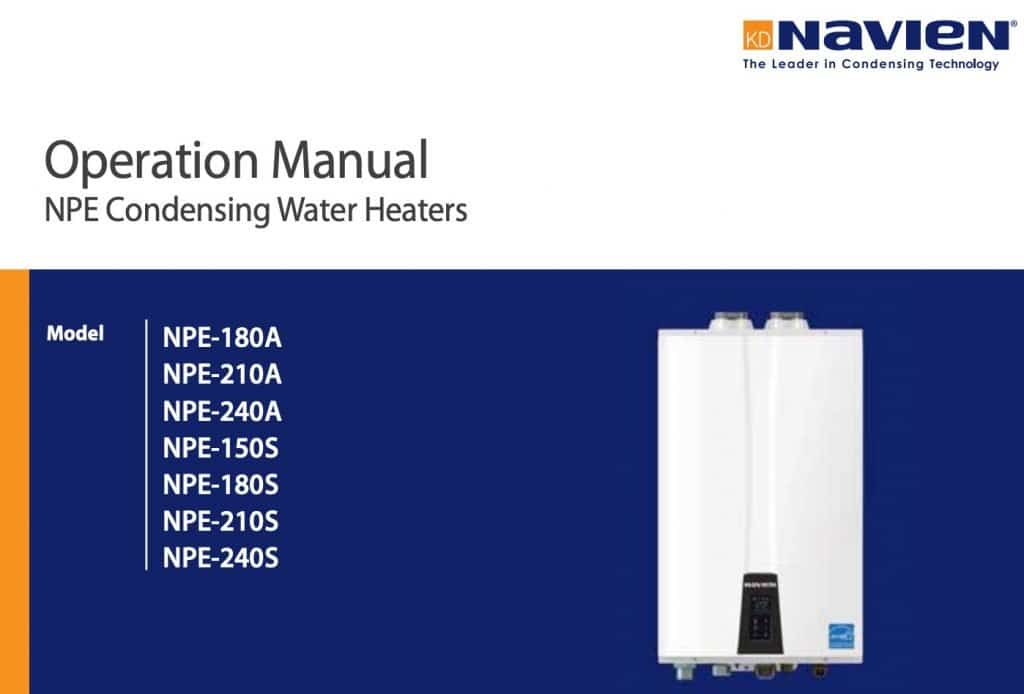 Navien Tankless Water Heater Operation Manuals - Hoffmann Brothers