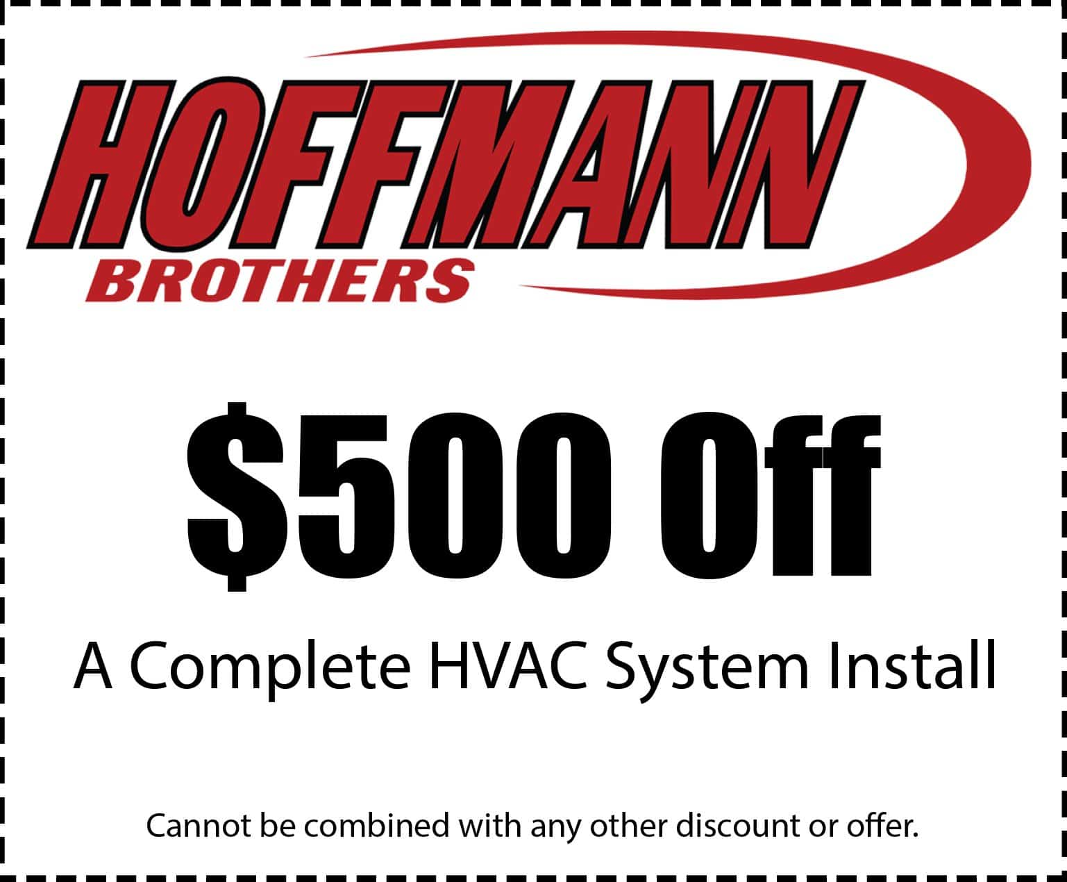 $500 Off HVAC System Install Coupon