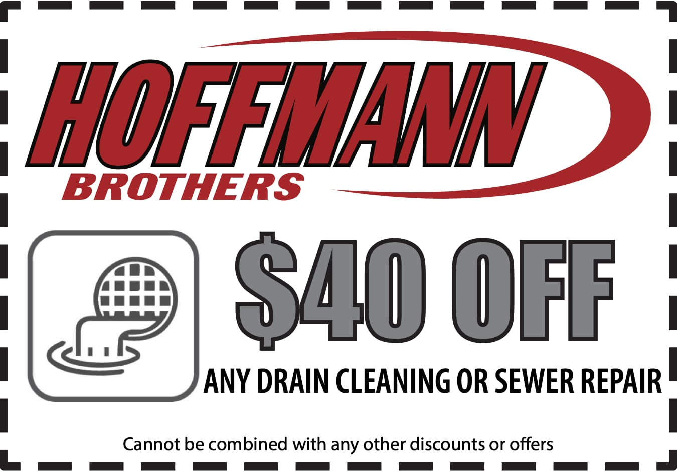 $40 off any drain cleaning or sewer repair coupon